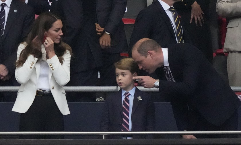 Kate, William i siedmioletni Jerzyk na trybunach na Wembley podczas finału Euro 2020