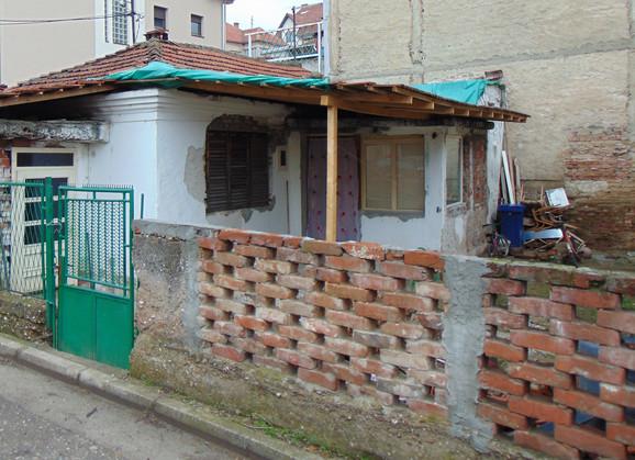 Kuća u Avalskoj ulici u kojoj je ziveo Mitić sa sinom