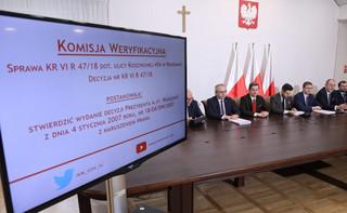 Komisja weryfikacyjna uchyliła decyzję ws. Krakowskiego Przedmieścia 81