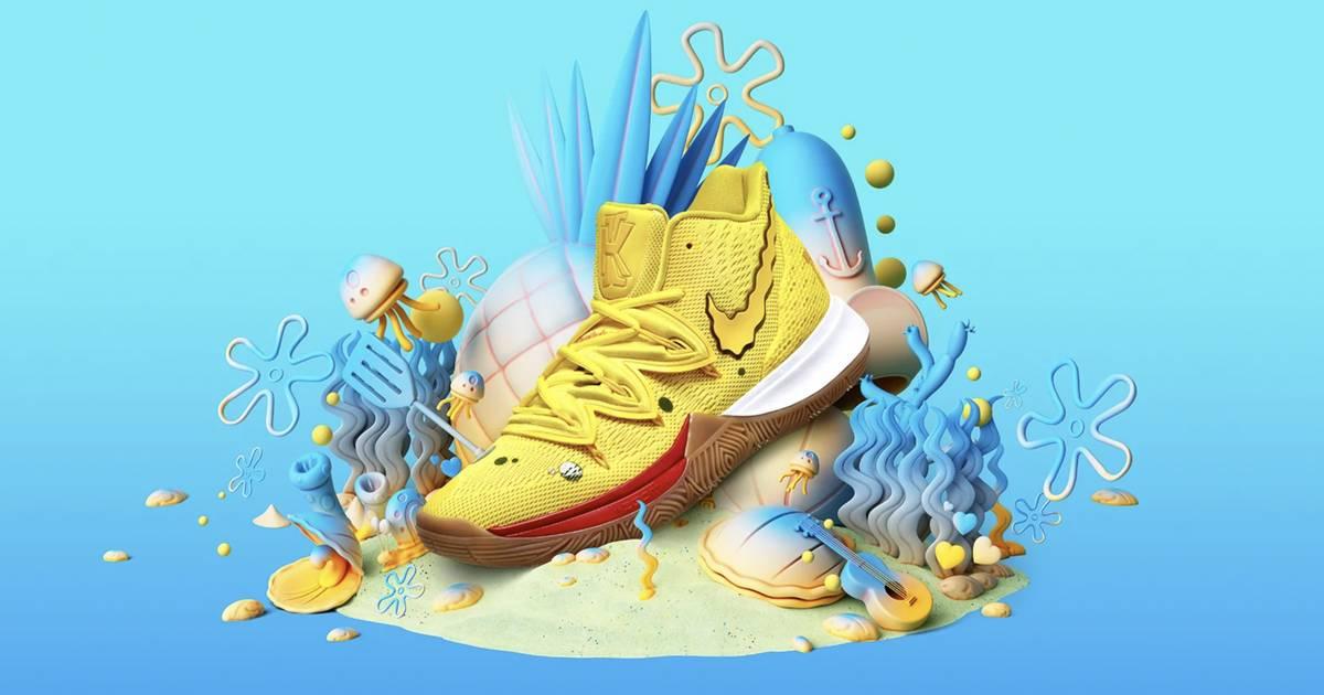 Nike bringt Kyrie x Spongebob-Unterwasser-Sneaker raus
