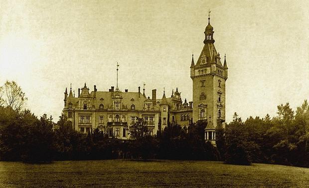 Pałac w Chwalimierzu (fotografia archiwalna)