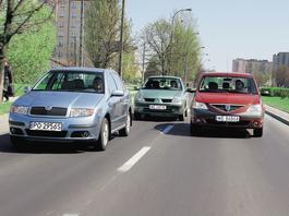 Sedany wciąż na topie - Skoda Fabia kontra Renault Thalia i Dacia Logan | Z archiwum Auto Świata |