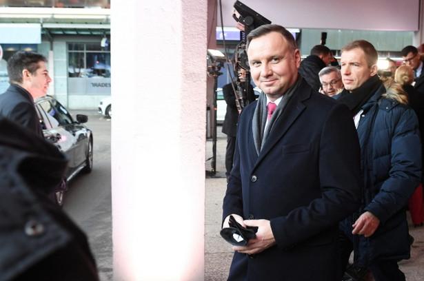 Andrzej Duda w Davos