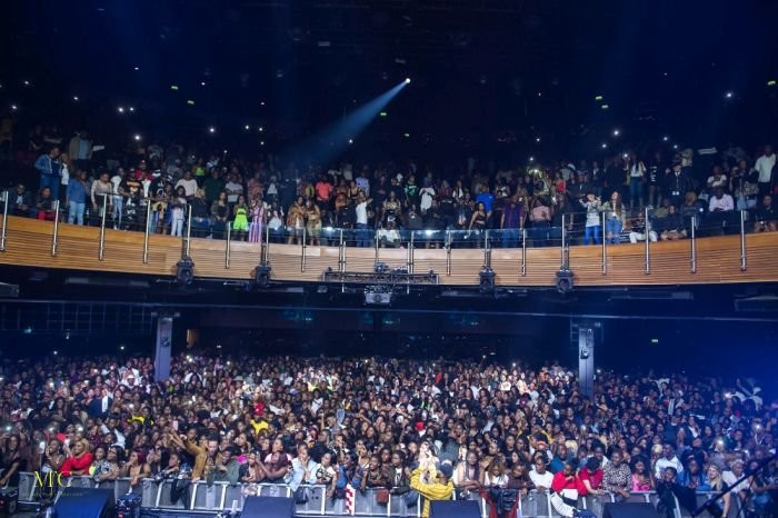 The crowd enjoying what they were seeing as Kizz Daniel performed at 'Indigo at the O2.' (Within Nigeria)