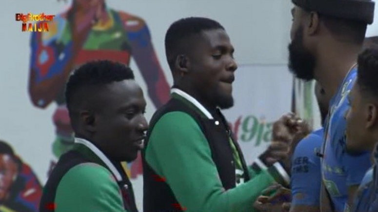 John Ogu and Oghenekaro Etebo visit Big Brother Naija house (Twitter/BBNaija)