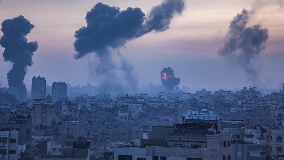 Gaza po atakach odwetowych Izraela