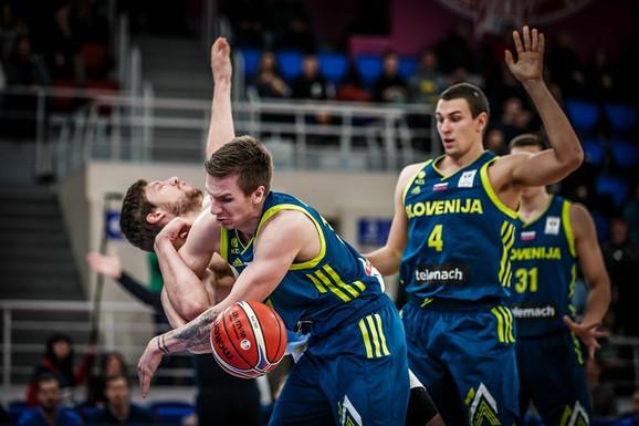 Košarkaši Slovenije nisu uspeli ni da priprete Ukrajini
