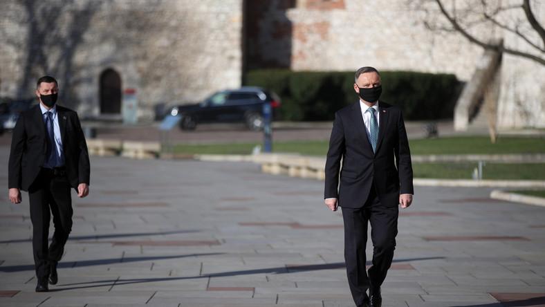 Prezydent Andrzej Duda w drodze na Wawel