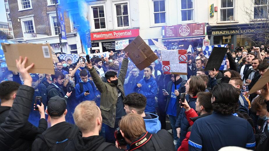 Protesty fanów przeciwko Superlidze