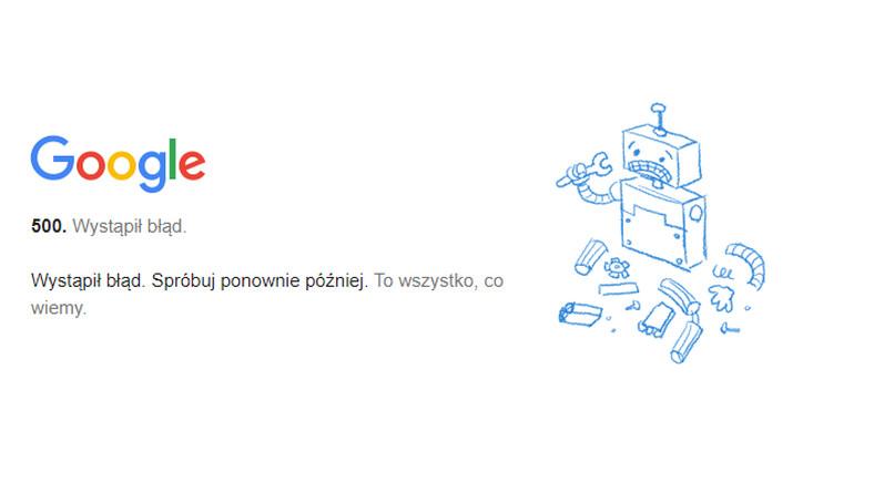 Awaria Google Meet
