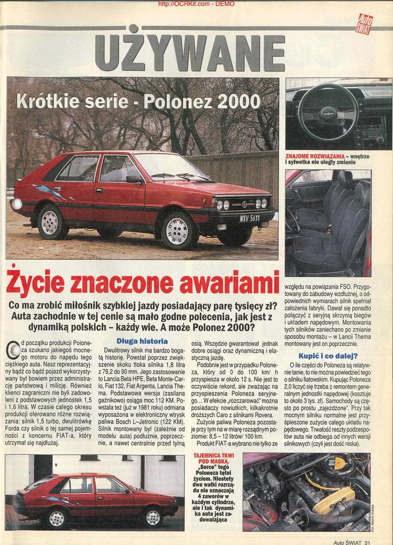 Polonez 2000 z archiwum Auto Świata
