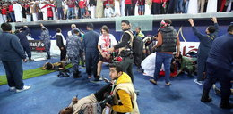 Piekło na stadionie. Zawaliła się trybuna, dziesiątki rannych