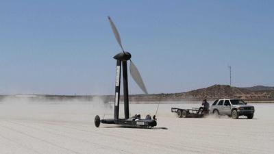 A YouTuber bet a physicist $10,000 that a wind-powered vehicle can travel twice as fast as the wind itself - and won