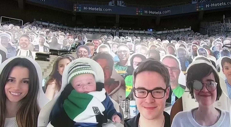 Sports fans are buying cardboard cutouts of themselves to put in stadiums so they can still 'attend' games during the pandemic