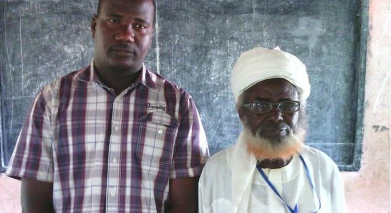 Oldest Nigerian Pupil, Mohammud Modibbo, dies at age 94. Modibbo is pictured with his teacher, Abdulkarim Ibrahim