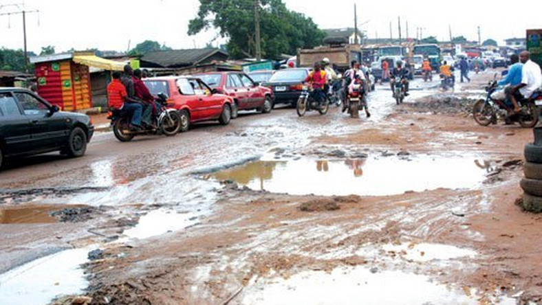 Image result for bad roads in Nigeria