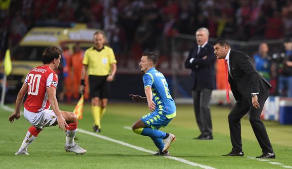 Zvezda pregrmela nalete Napolija i osvojila prvi bod u Ligi šampiona