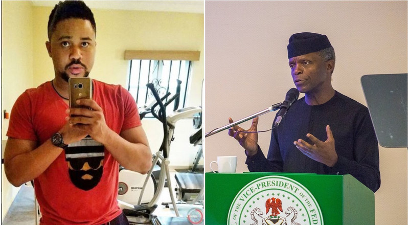 'Your excellency sir, I have no more money to feed' - Nollywood actor Mike Godson appeals to VP Yemi Osibanjo as lockdown continues