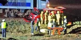 Pociąg uderzył w auto koło Gorlic. Poszkodowana kobieta z dwójką małych dzieci