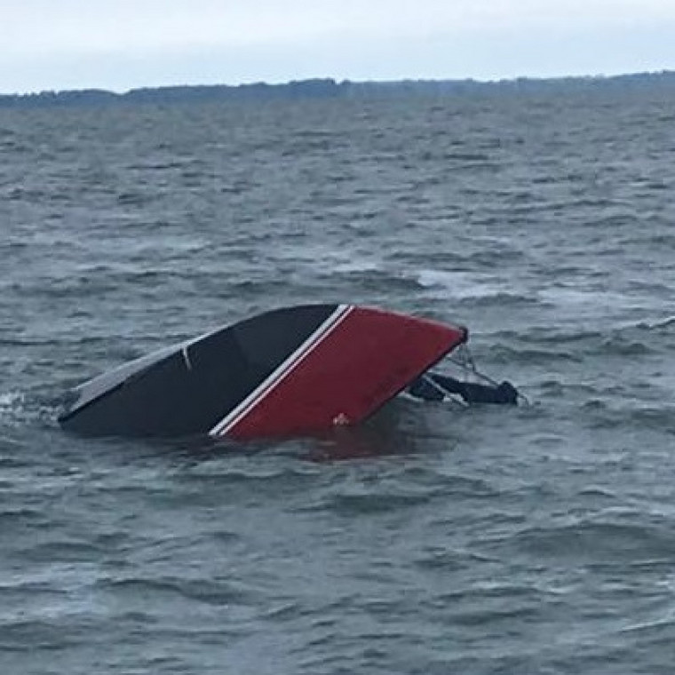 File image of a boat that capsized
