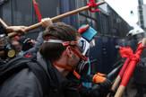 Grčka Atina policija nastavnici protest demonstracije EPA ORESTIS PANAGIOTOU