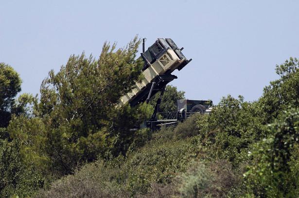 Wyrzutnie rakiet Patriot rozmieszczone przez izraelską armię w Hajfie, w Izraelu Fotograf: Eddie Gerald / Bloomberg News