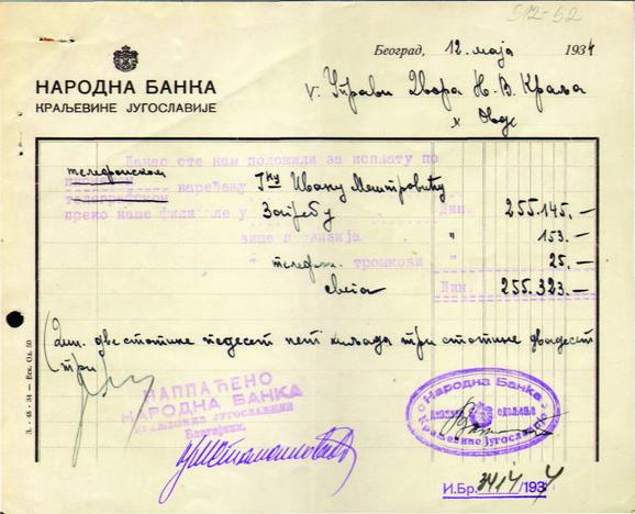 Rešenje iz aprila 1934. godine da se Meštroviću isplati skulptura foto:Promo
