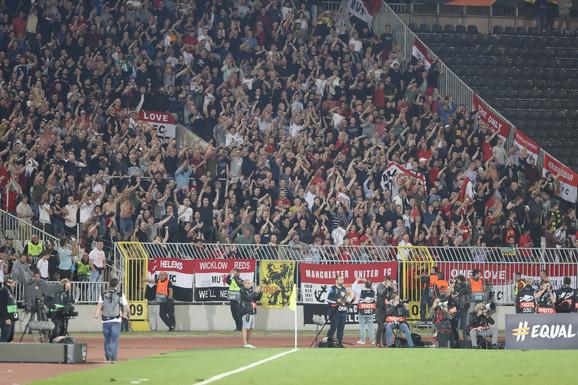 Engleski navijači na meču FK Partizan - Mančester junajted
