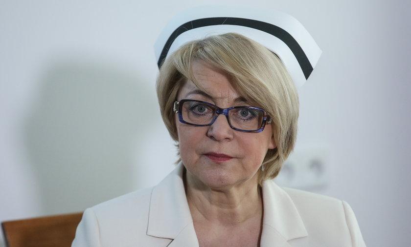 Zofia Małas szefowa Naczelnej Izby Pielęgniarek i Położnych