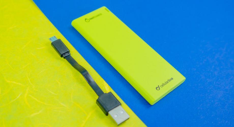 Powerbank Cellularline Freepower Slim 3000 im Test