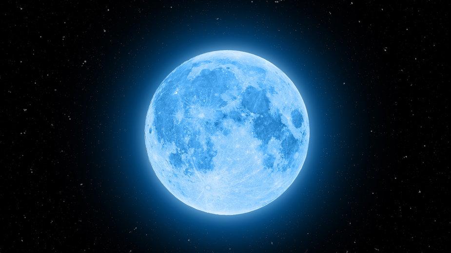Niebieski Księżyc to zjawisko, które ma miejsce, gdy pełnia występuje dwa razy w tym samym miesiącu