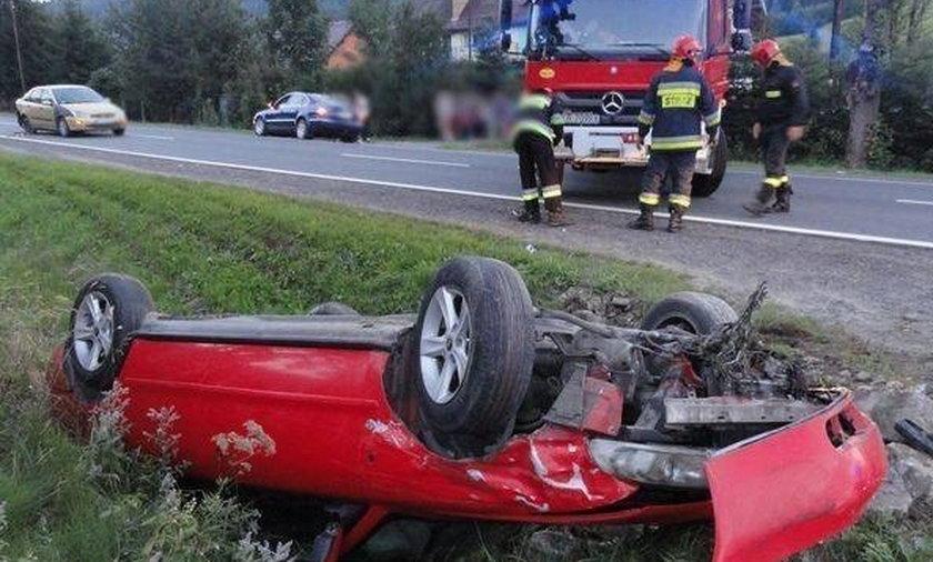Groźny wypadek pod Krynicą-Zdrój