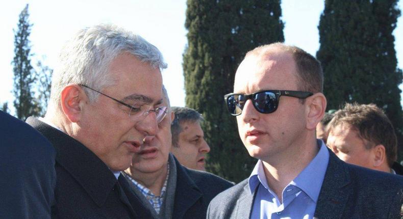 Montenegrin opposition leaders Andrija Mandic and Milan Knezevic