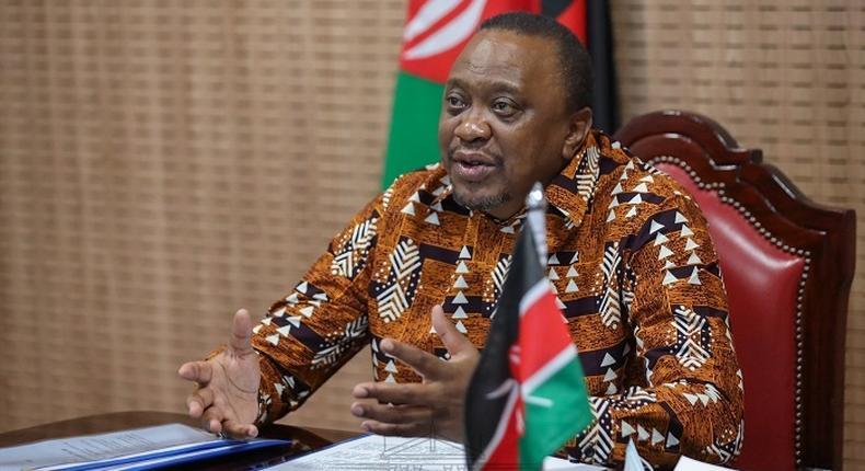 President Uhuru Kenyatta during a recent virtual meeting at State House, Nairobi