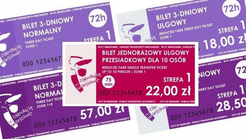 W taryfie stołecznej komunikacji miejskiej pojawią się m.in. nowe bilety