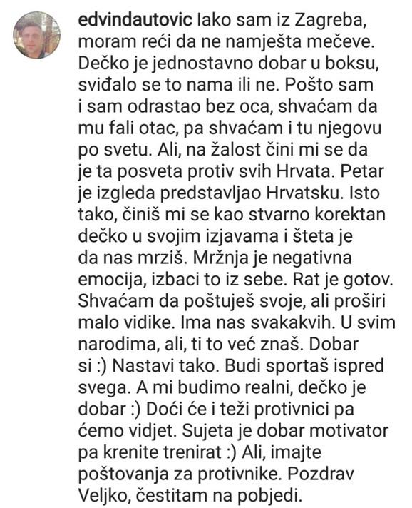 Poruka koju je dobio Veljko Ražnatović na Instagramu