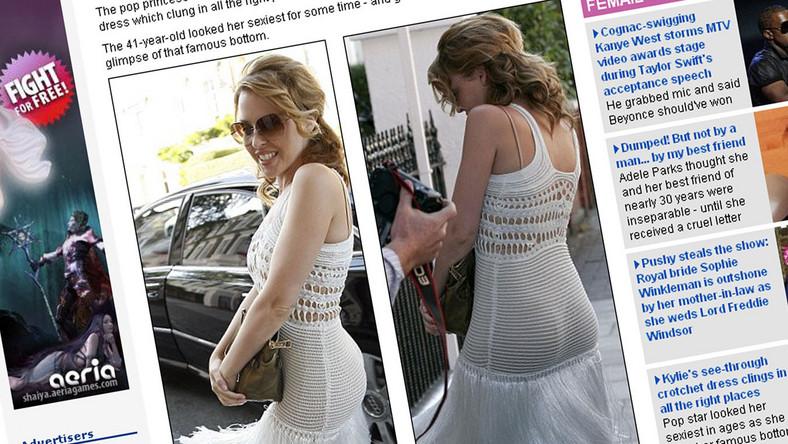 Kylie Minogue kusi w prześwitującej sukni