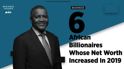 This is a list of 6 African billionaires whose net worth increased in 2019