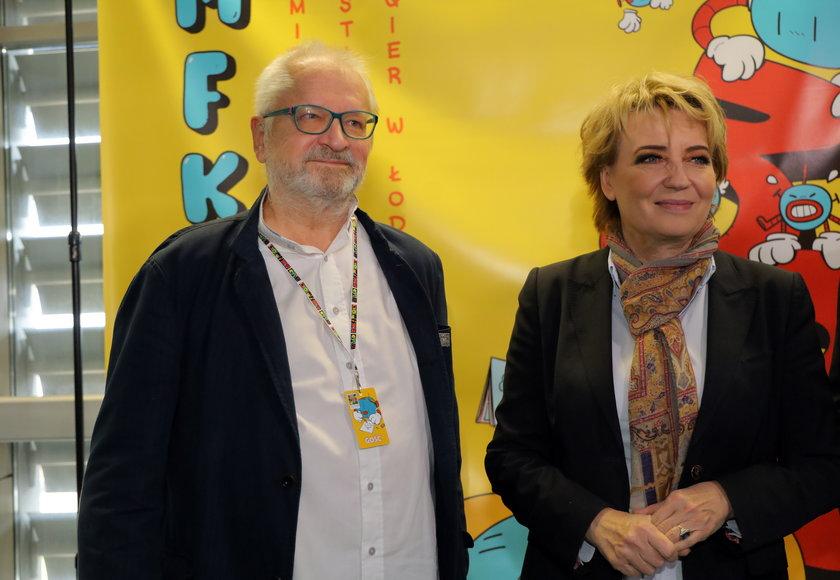 Grzegorz Rosiński i Hanna Zdanowska