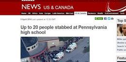 Nożownik w szkole! Szaleniec ranił 20 uczniów!