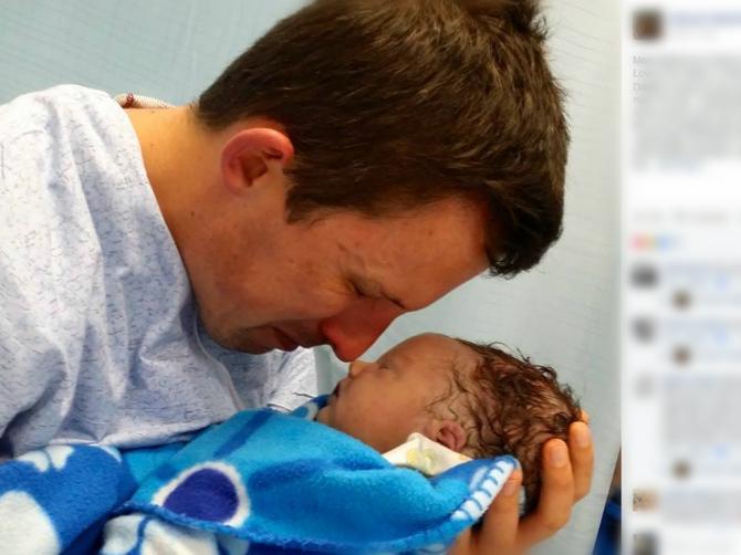 Priča koja cepa srce: Tata sa tek rođenim sinom koji je preminuo rastužio pola planete