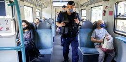 Po publikacji Faktu! Policjanci sprawdzają, czy pasażerowie noszą maseczki w SKM-kach