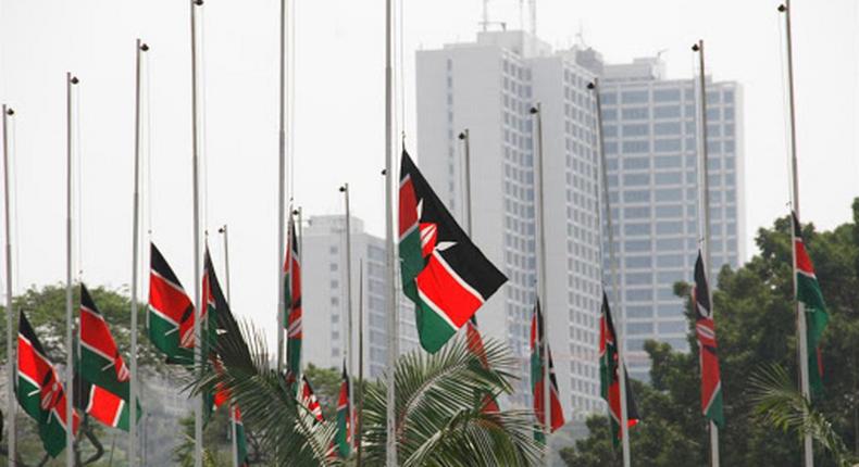 Kenyan Flags flown at half-mast