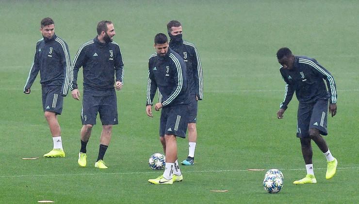 Trening fudbalera Juventusa