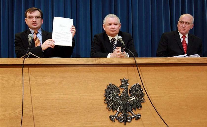 Ziobro zbierał haki na Kaczyńskiego?