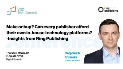 Wojciech Struski about in-house technology platforms at VDZ Tech Summit