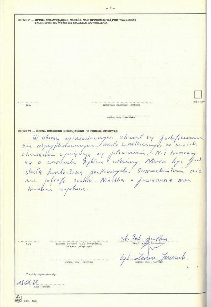 Dokumenty dotyczące posła Leonarda Krasulskiego