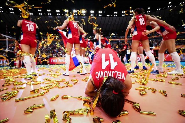 Ženska odbojkaška reprezentacije Srbije slavi titulu prvaka sveta