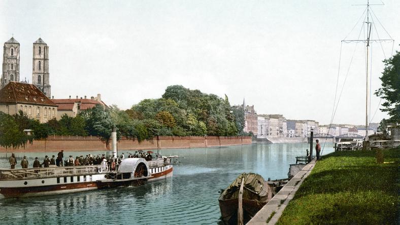 Odra i Wrocławski Ostrów Tumski około 1890-1900