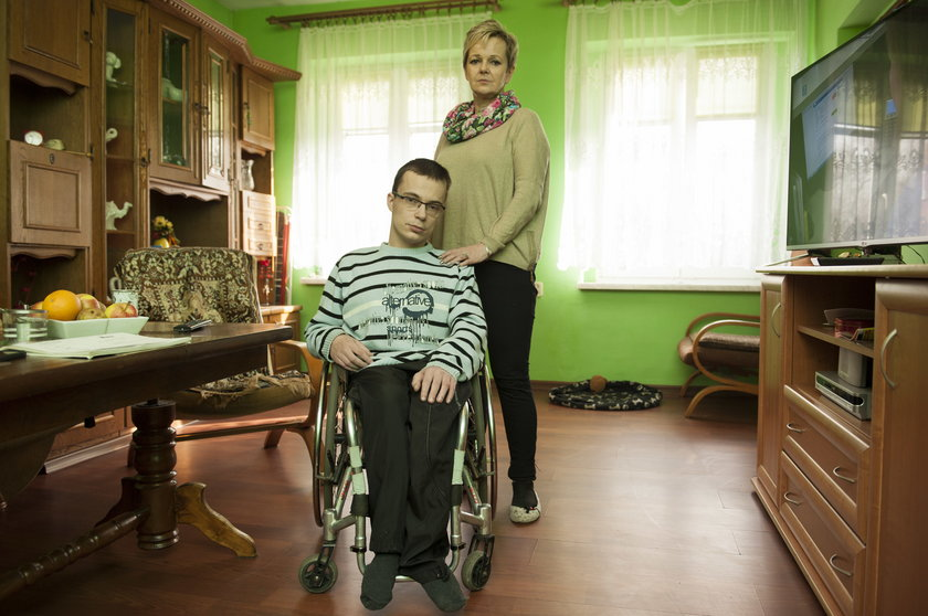 Sabina Będkowska z synem Kamilem (25 l.)